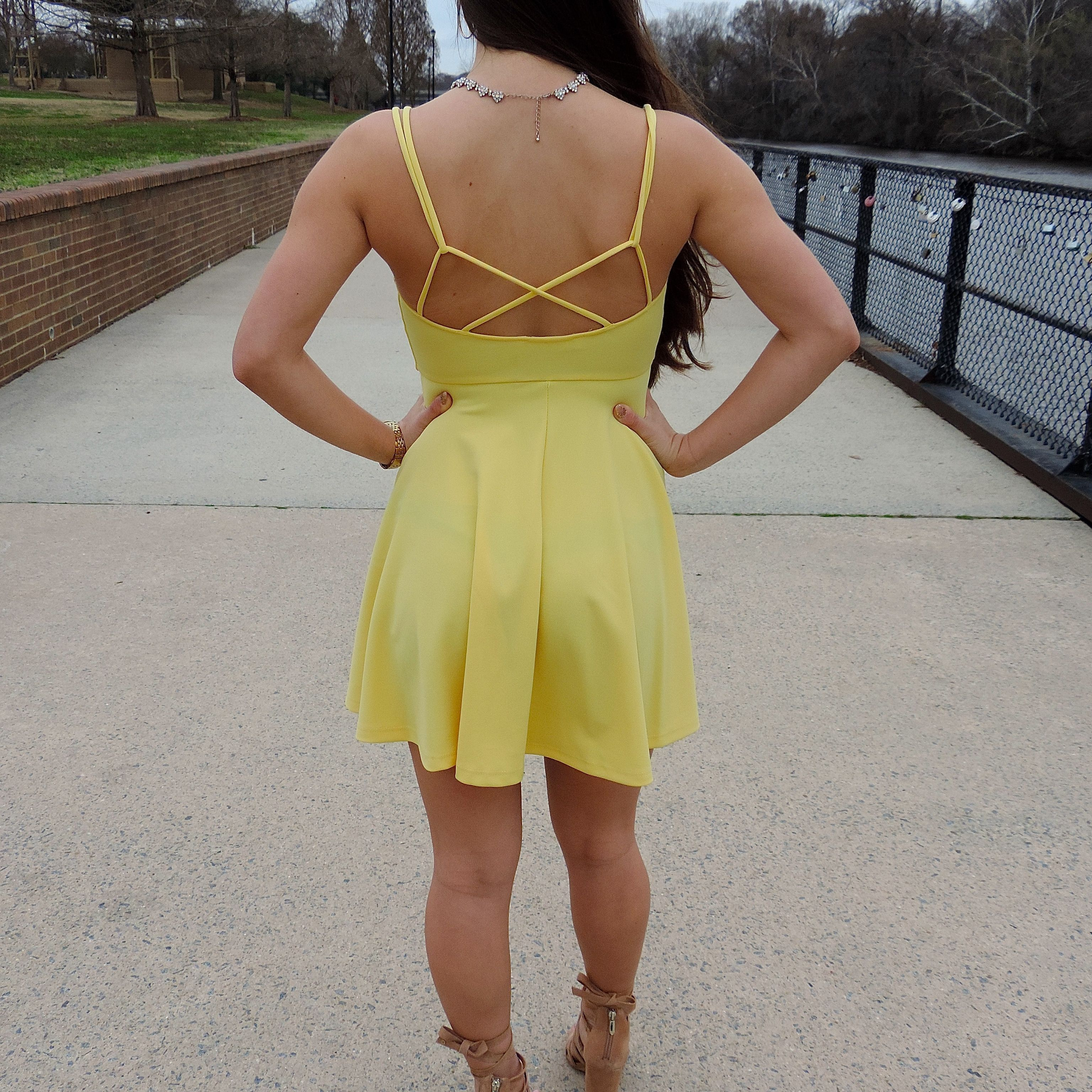 Yellow or black Skater Dress