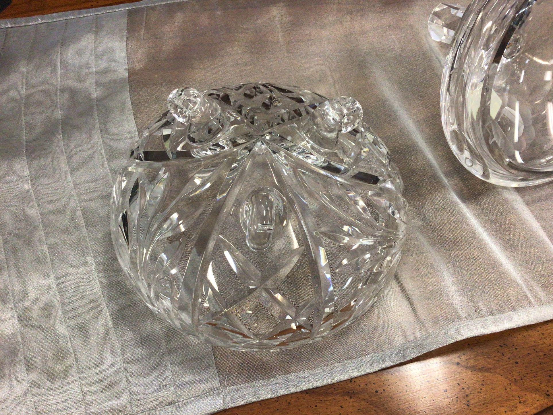 Crystal Candy Dish W/ Lid