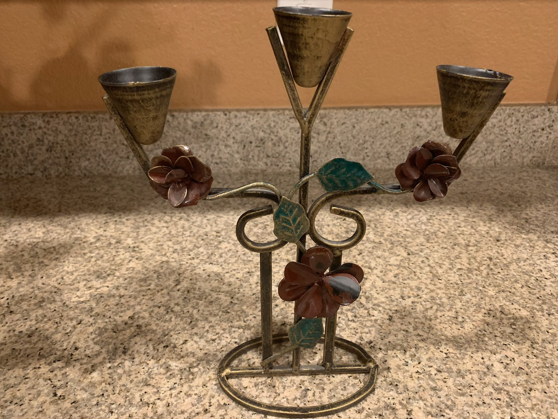 (4) Wall Mount Candles Holders & (1) Table Candle Holder
