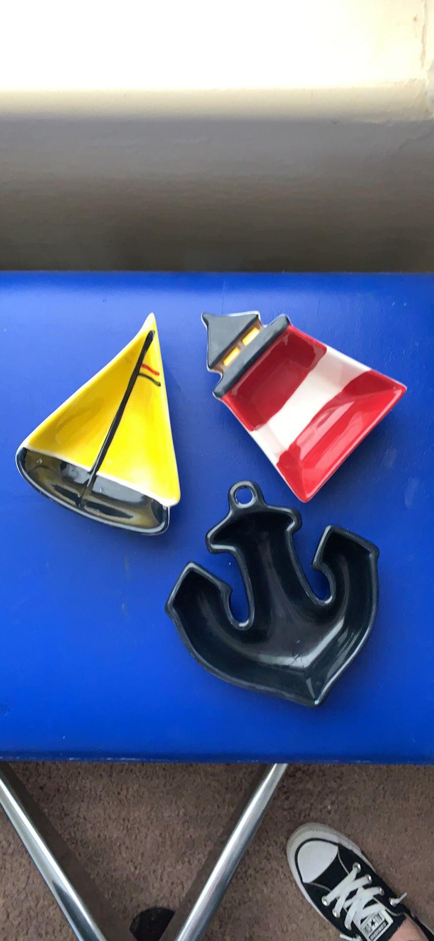 Nautical decor ceramic
