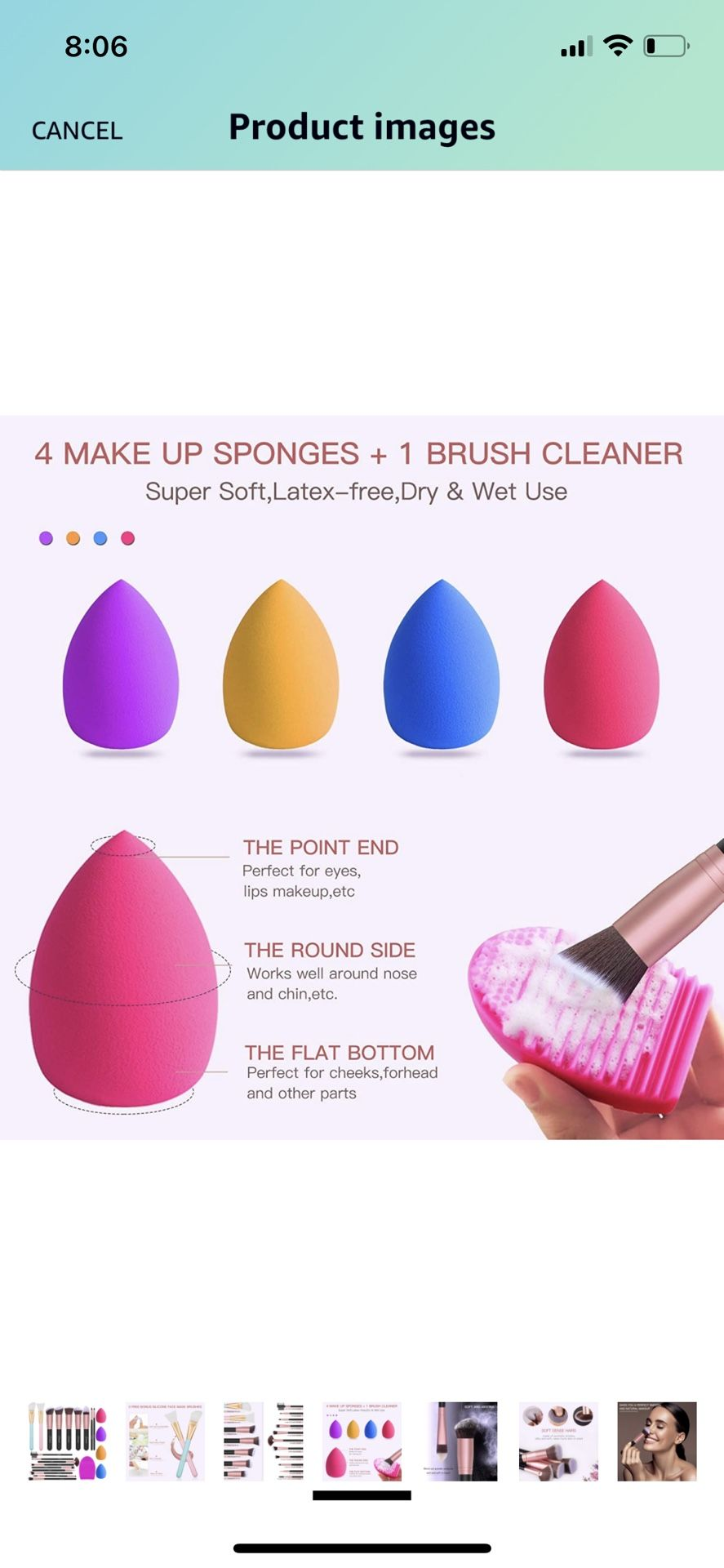 BESTOPE Makeup Brushes 16Pcs Professional Makeup Brush Set 2 Silicone Face Mask Brushes&4 Blender Sponge&1 Brush Cleaner Premium Synthetic Foundation