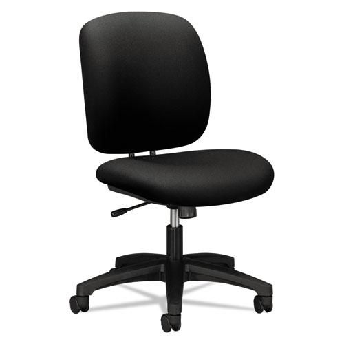 Comfortask Task Chair Supports Up To 300 Lbs Black Seat Black Back Black Base   Total Quantity: 1