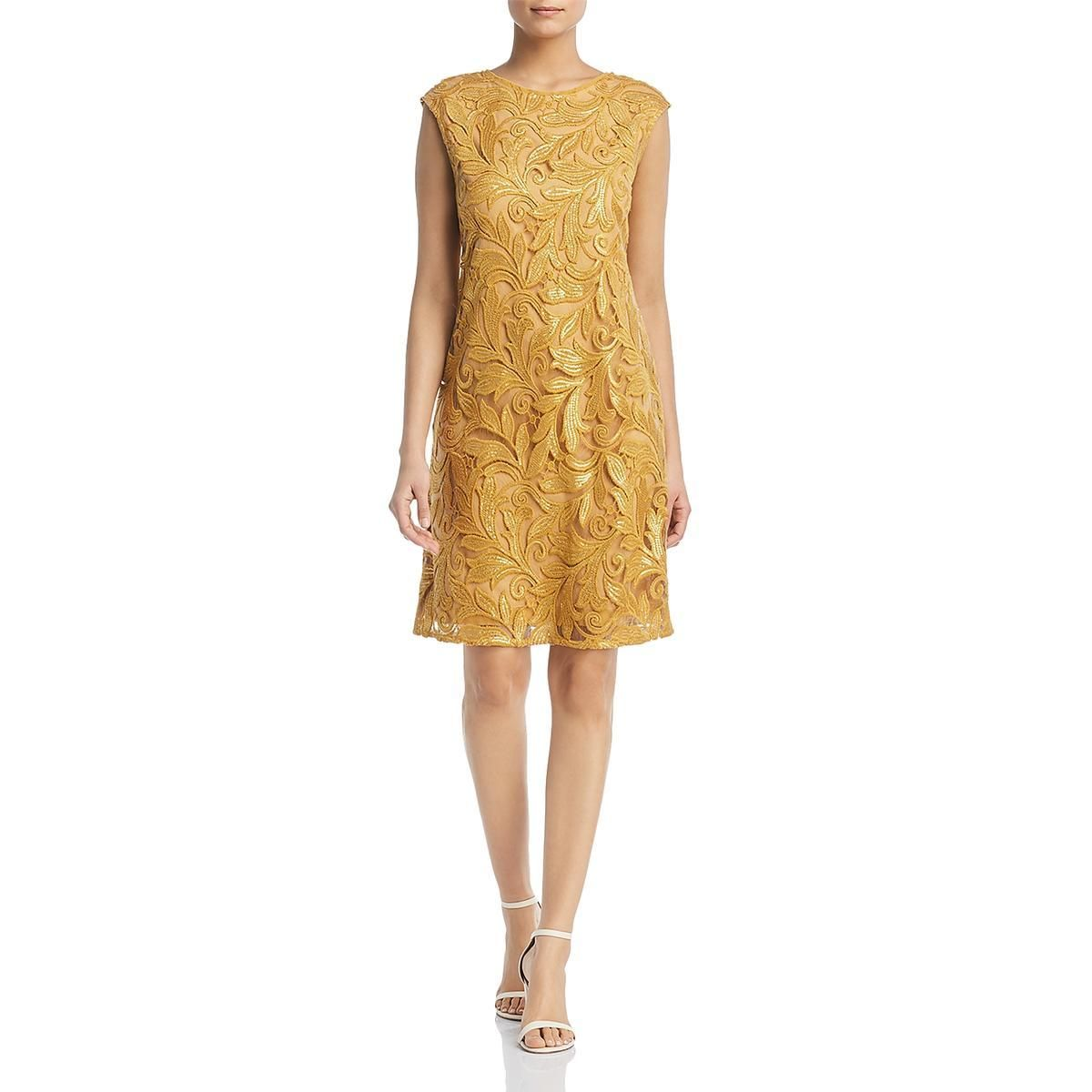 Nic + Zoe Womens Party Gold Size Medium