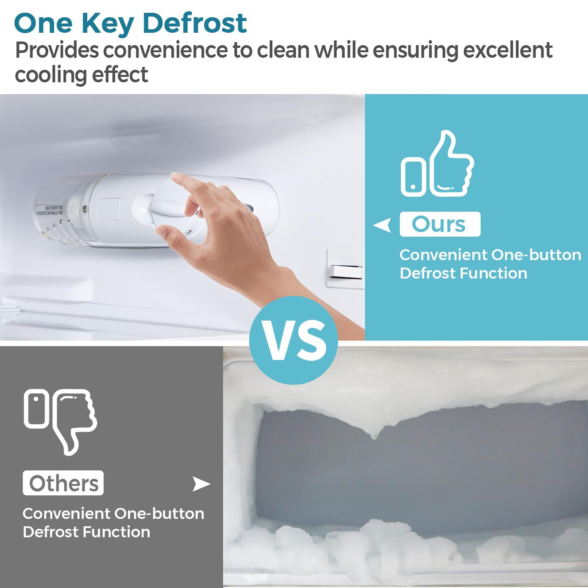 Costway 3.3 CU.FT. Compact Refrigerator w/ Freezer 2 Reversible Door Mini Fridge