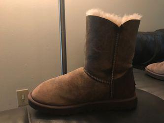 UGG Bailey Button Winter Boots Dark Chestnut Women's Size 10 Thumbnail