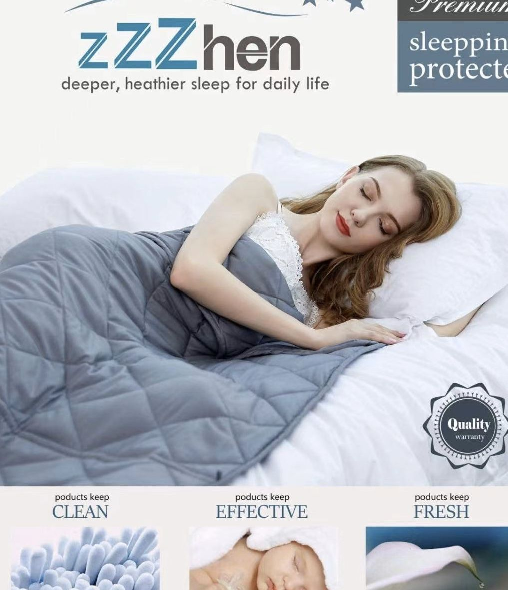 Weighted Blanket - High Breathability - 48''72'' 15LBs - Premium Heavy Blankets - Calm Sleeping for Adult and Kids, Durable Quilts and Quality Constru