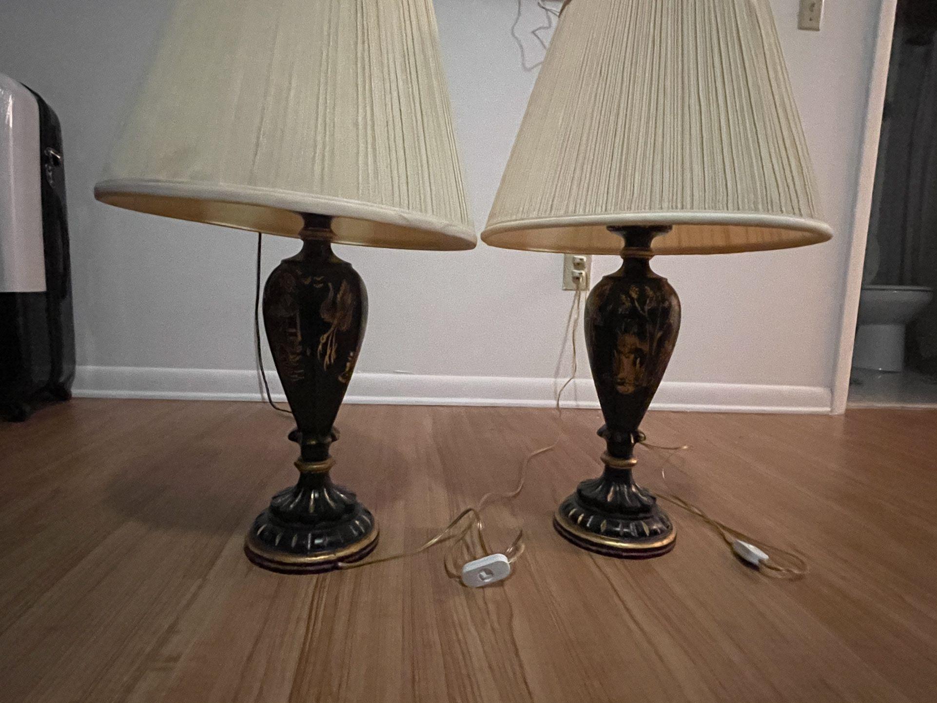 Antique japanese lamps