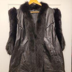 Leather Fur Vest Thumbnail