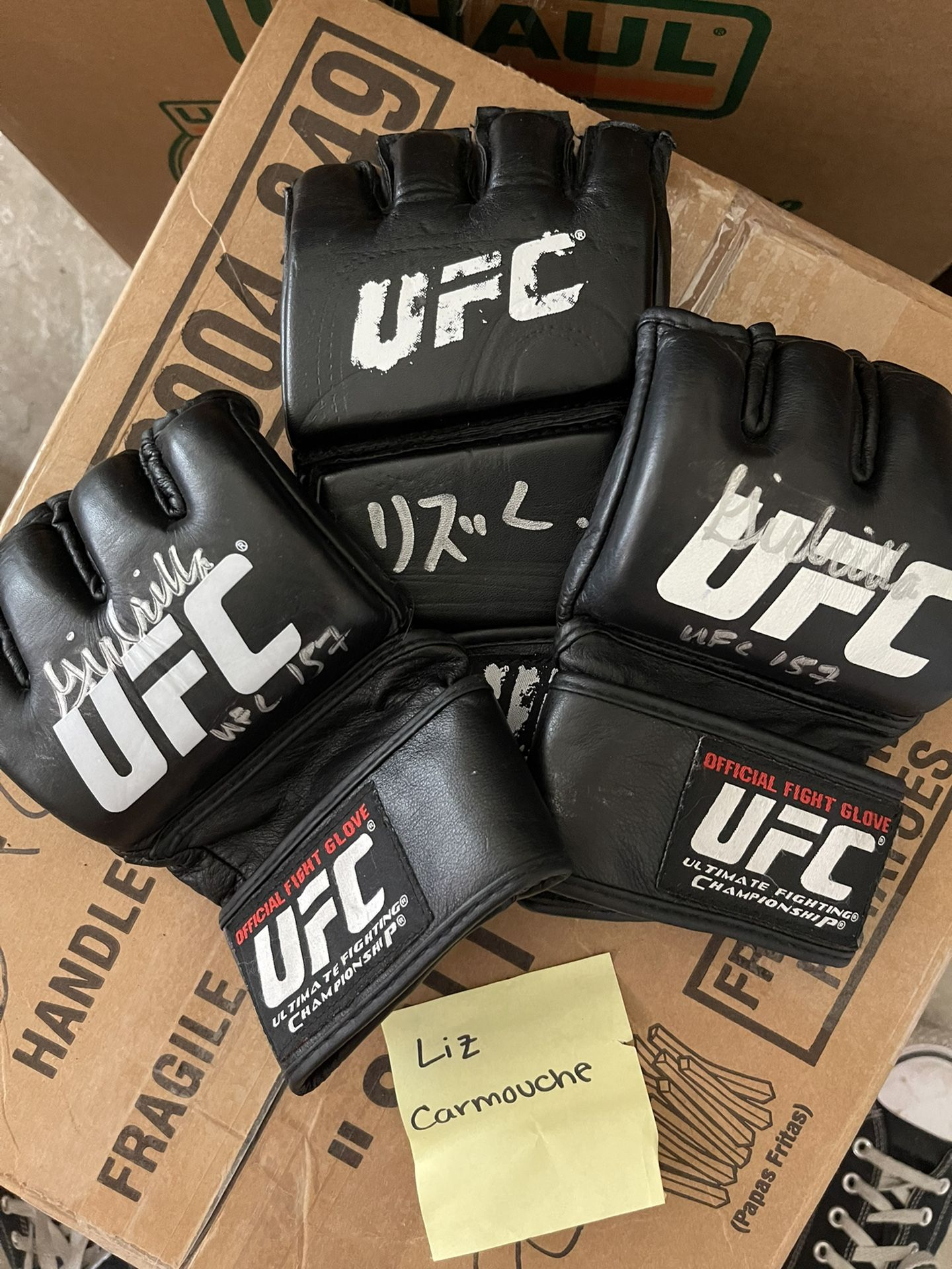 Signed UFC Memorabilia