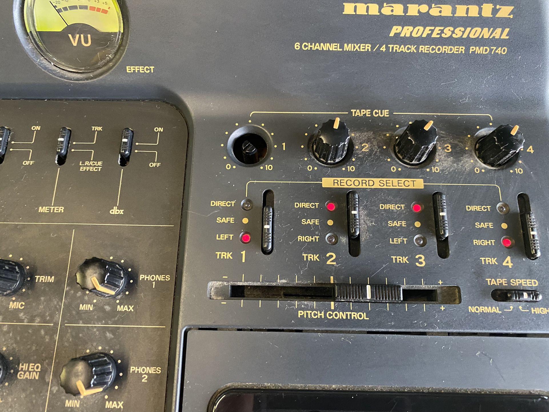USED MARANTZ  PROFESSIONAL 6 CHANNEL MIXER/4TRCK RECORDER PMD 740