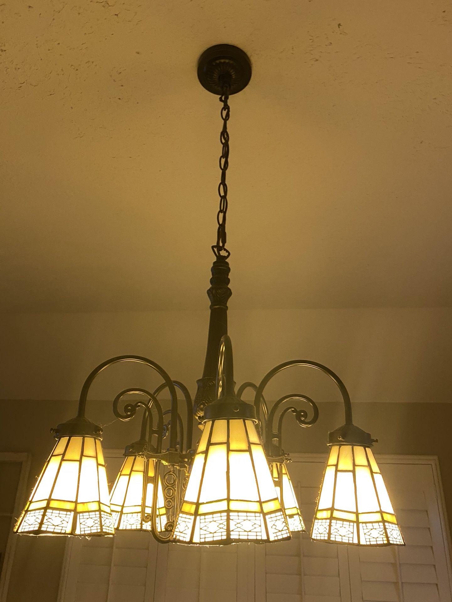 Victorian style chandelier light fixture