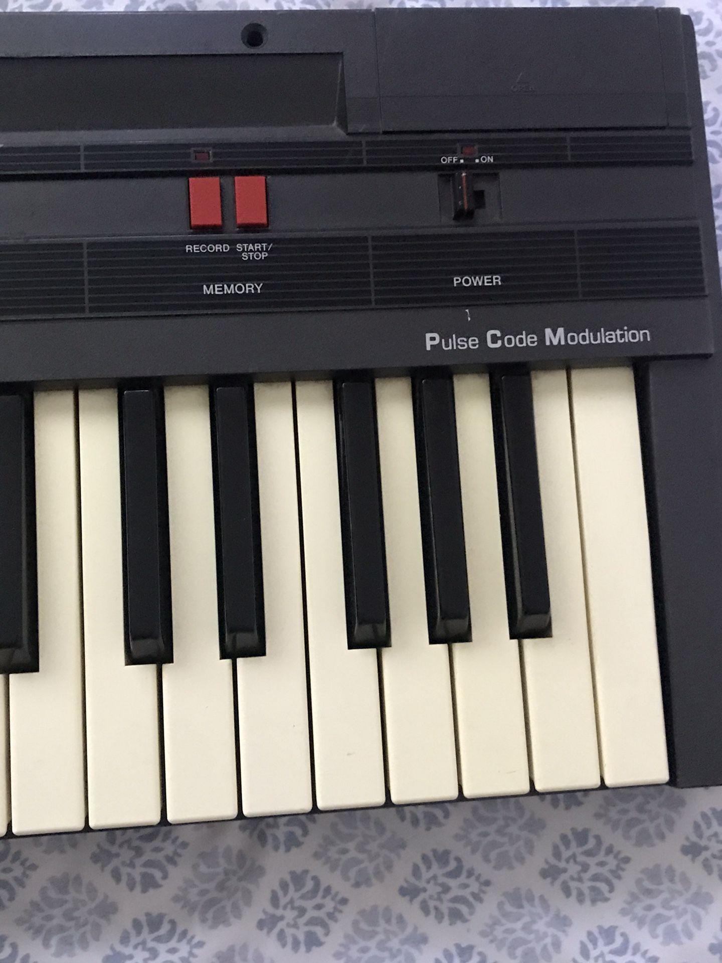 Realistic piano keyboard