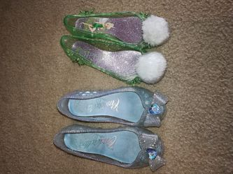 Disney Store Cinderella and Tinkerbell shoes Size 13/1 Thumbnail