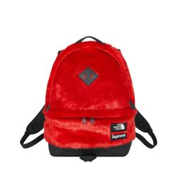 Supreme Faux Fur Red Backpack Thumbnail