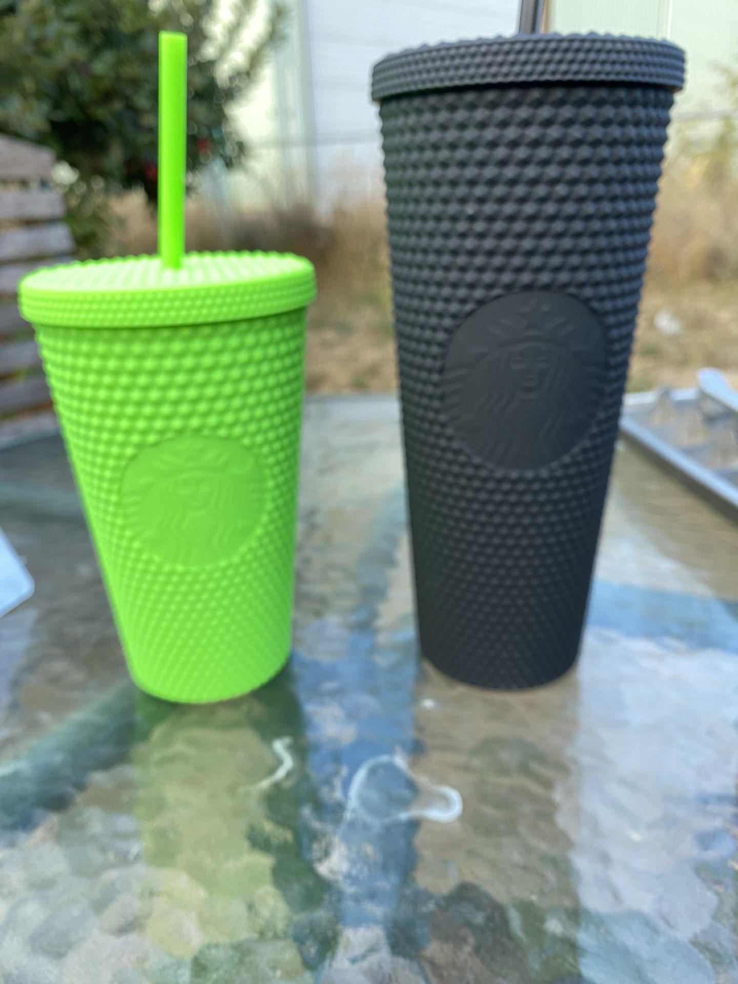 Starbucks Fall 2021 Black Tumbler (24oz) And Lime Green (16oz)