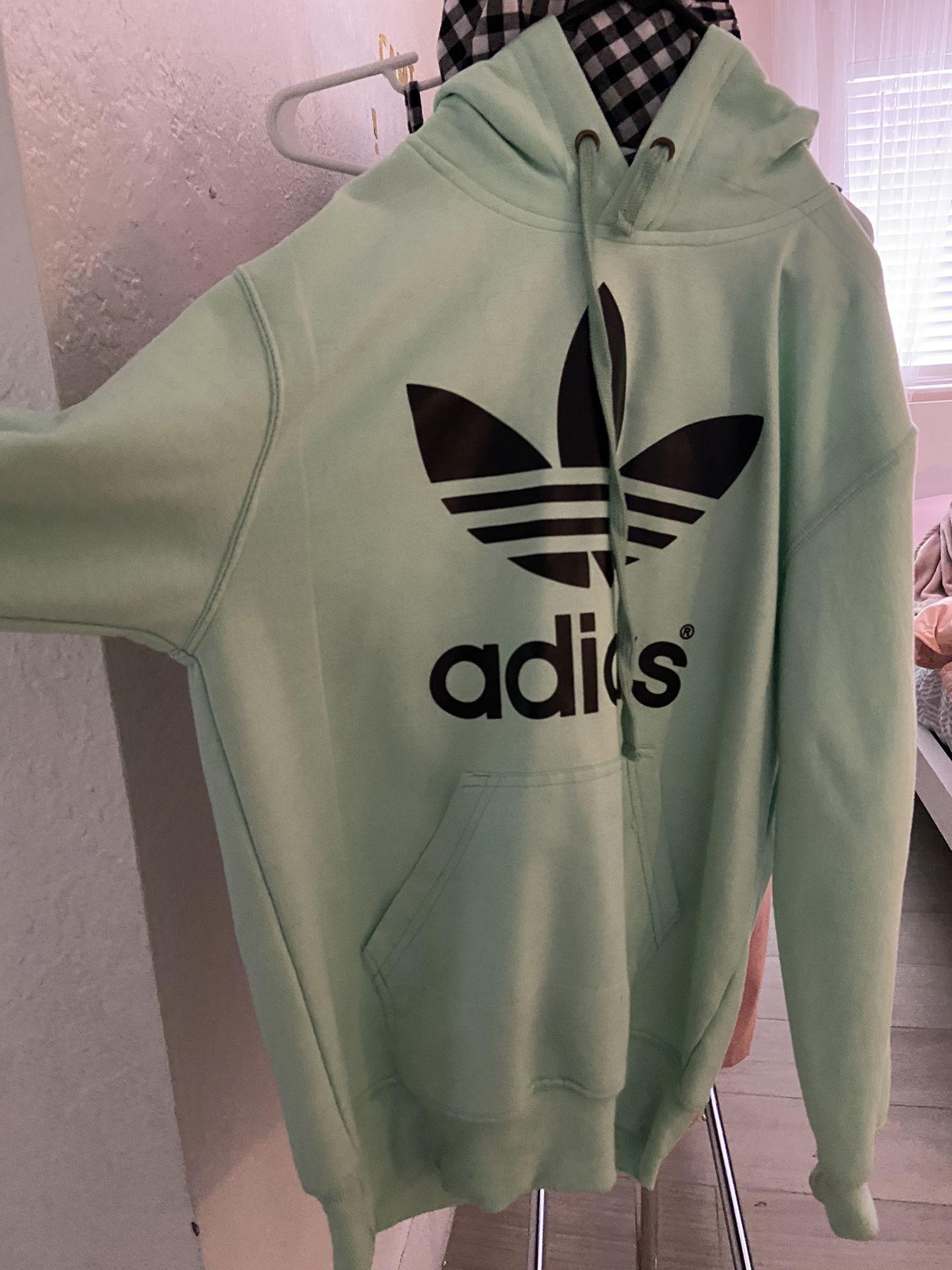 Mint color adidas hoodie