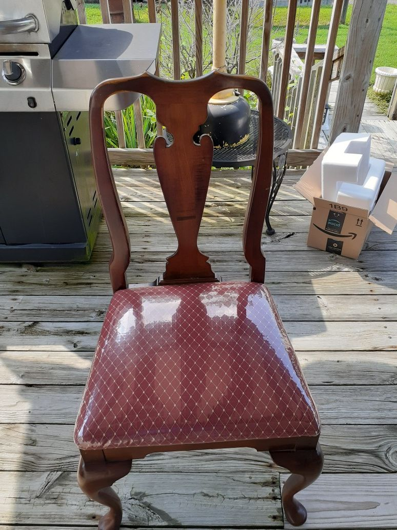 Solid cherry table and 6 chairs