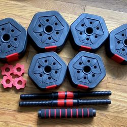 Adjustable Dumbells/ Barbell Set Thumbnail