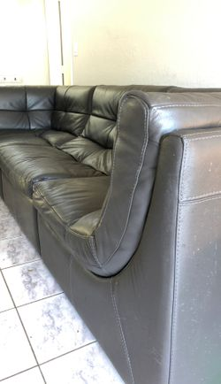 Sofa sectional z gallery grey gray leather Thumbnail