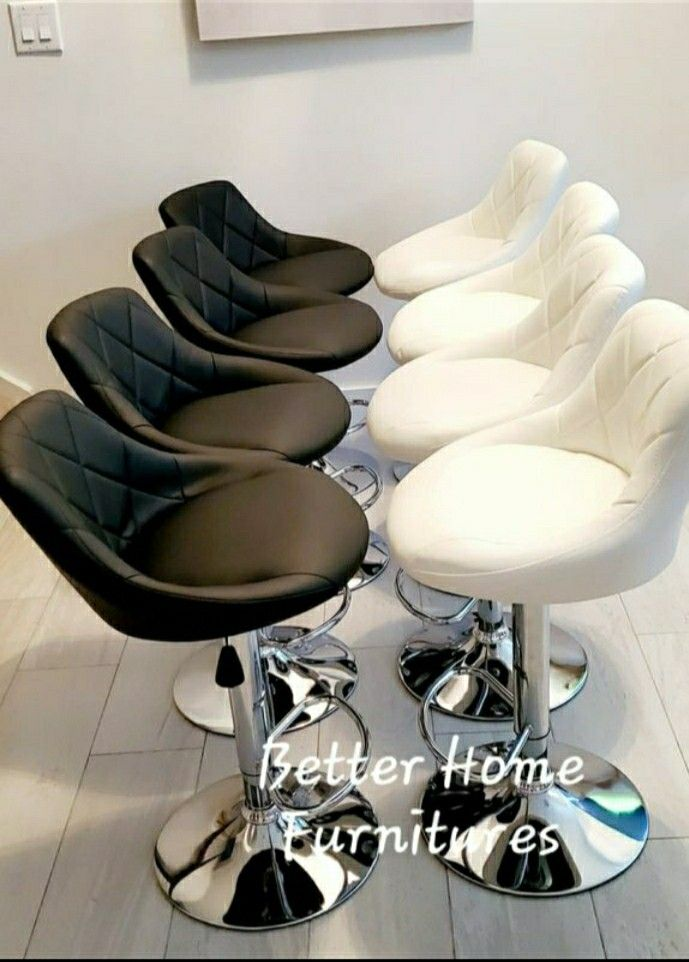Modern Adjustable Barstools, bar stools with chrome base. Available in Gray, Black, Red, White and Brown.