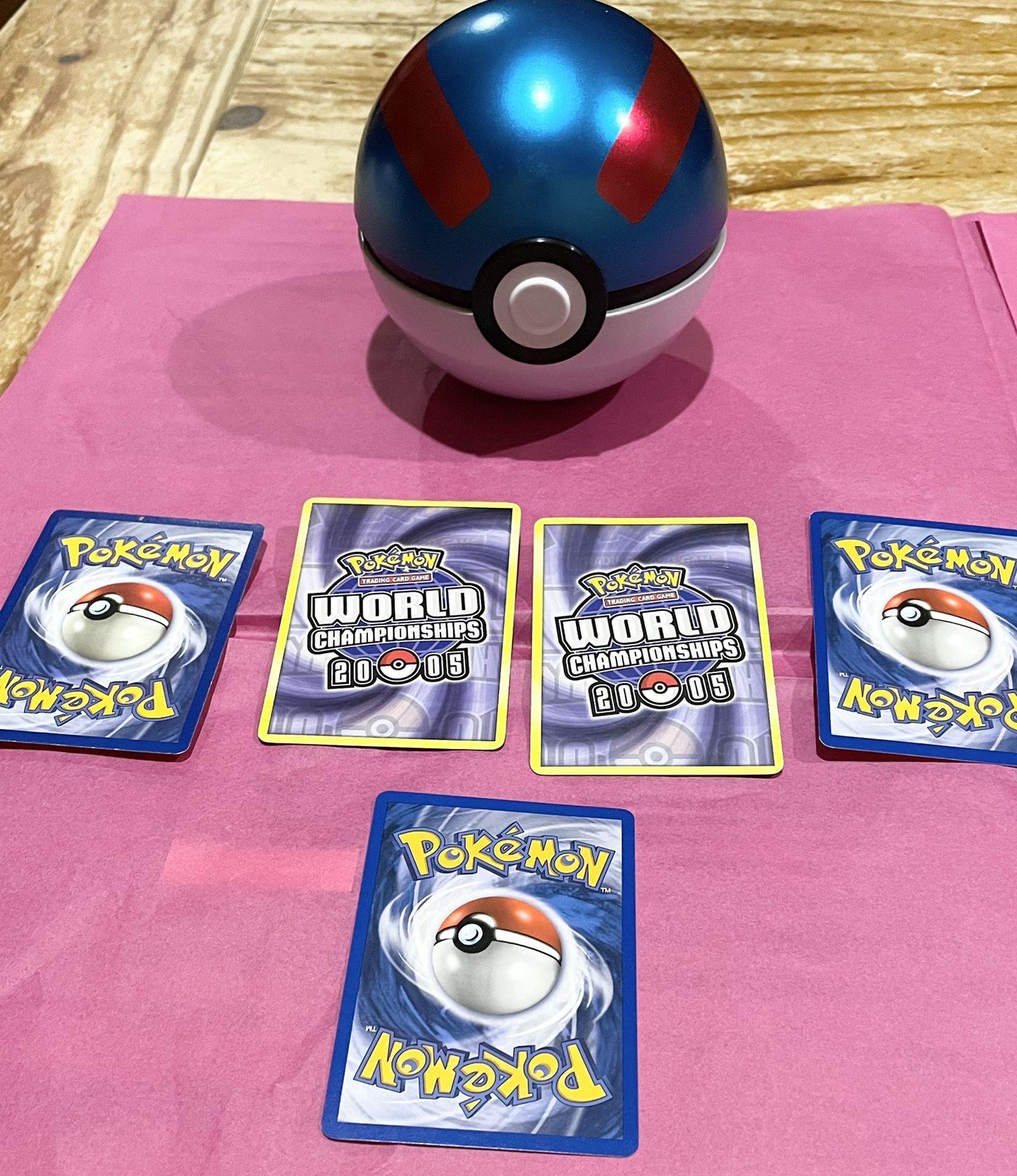 Great Ball Pokeball Tin & Pokemon Card Bundle