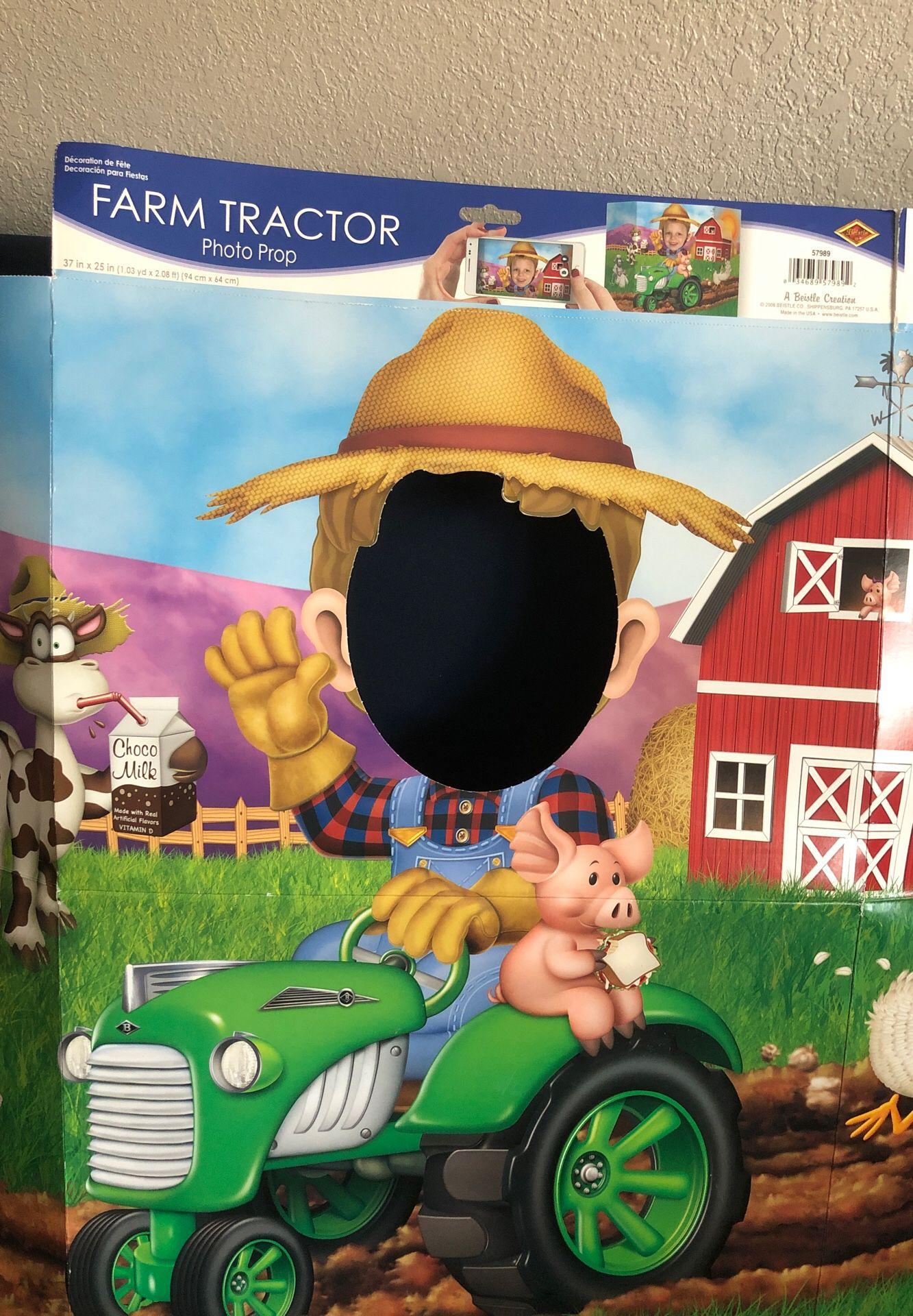 Farm Tractor Photo Prop - New