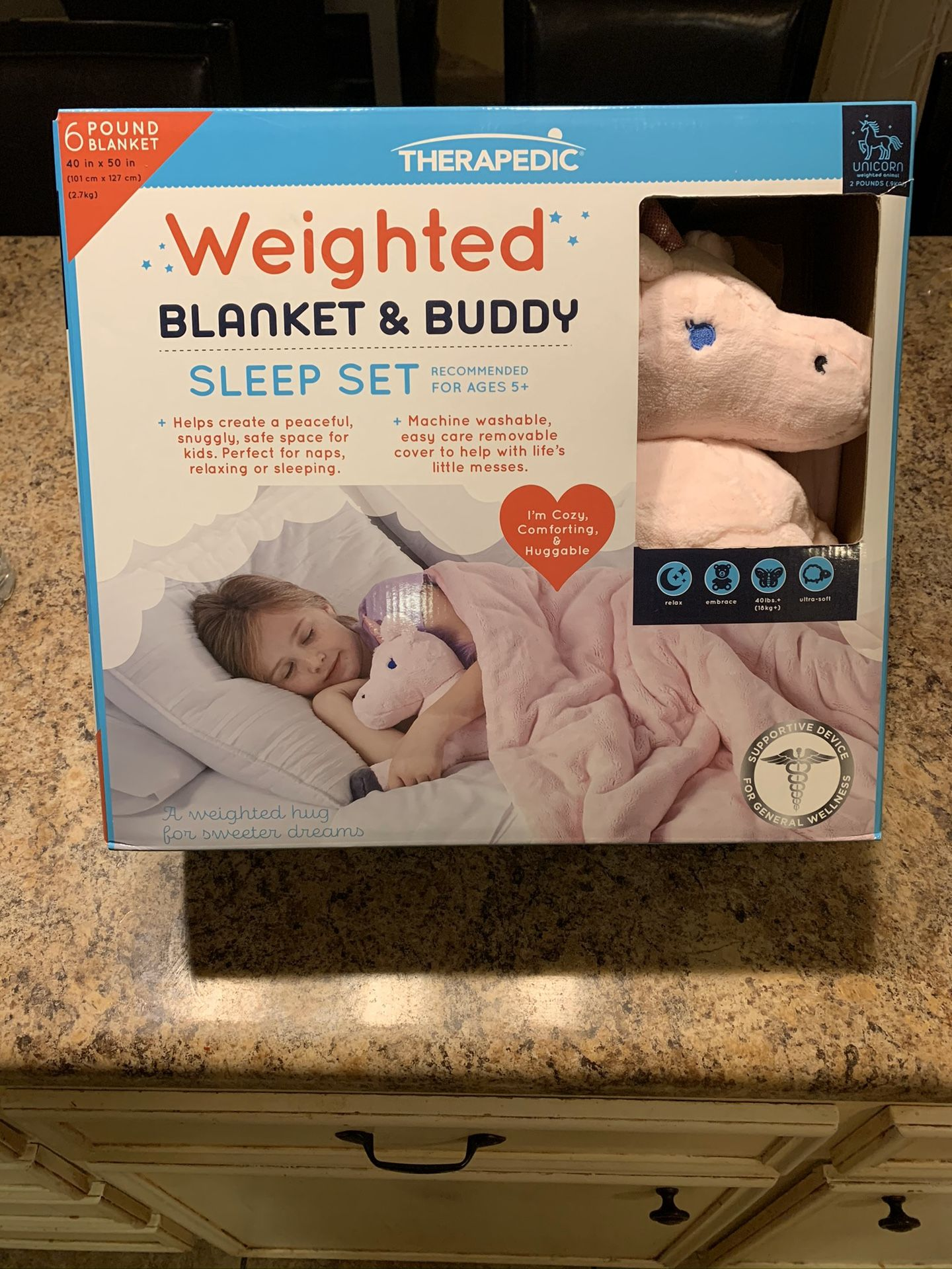 Therapedic girls weighted blanket and buddy
