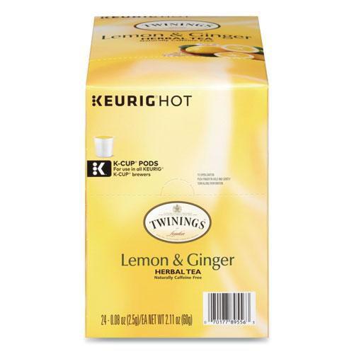 Tea K-Cups Lemon Ginger 0.11 Oz K-Cups 24/Box | 1 Box of: 24