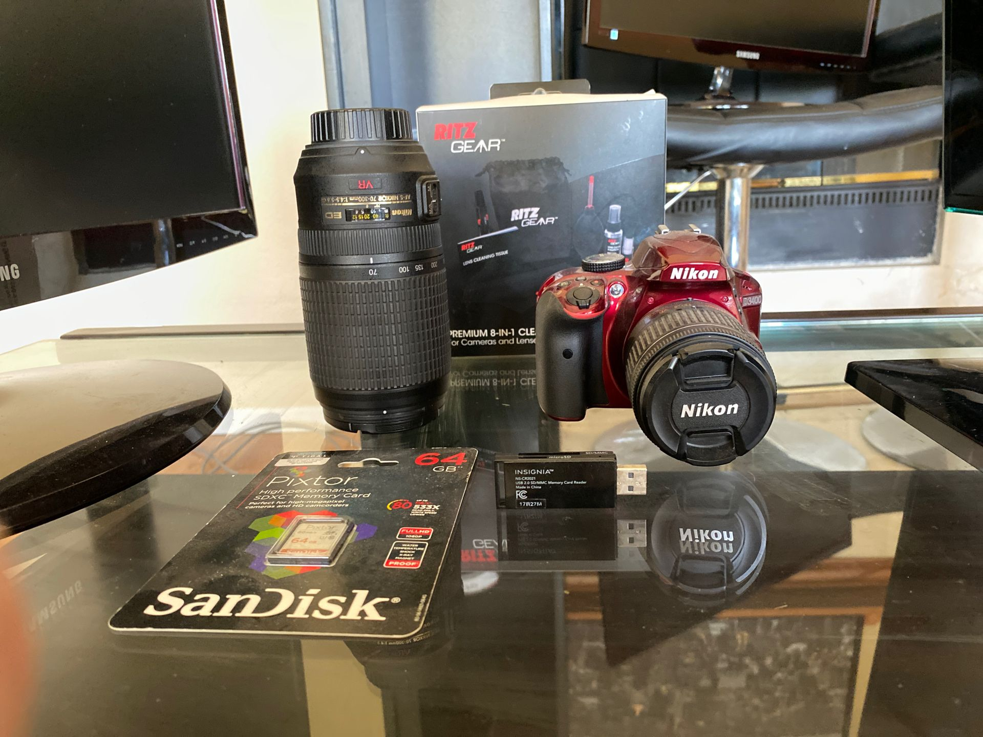 Nikon D3400 + 2 Lenses + Maintenance Kit + Memory Card — Photography Starter Kit