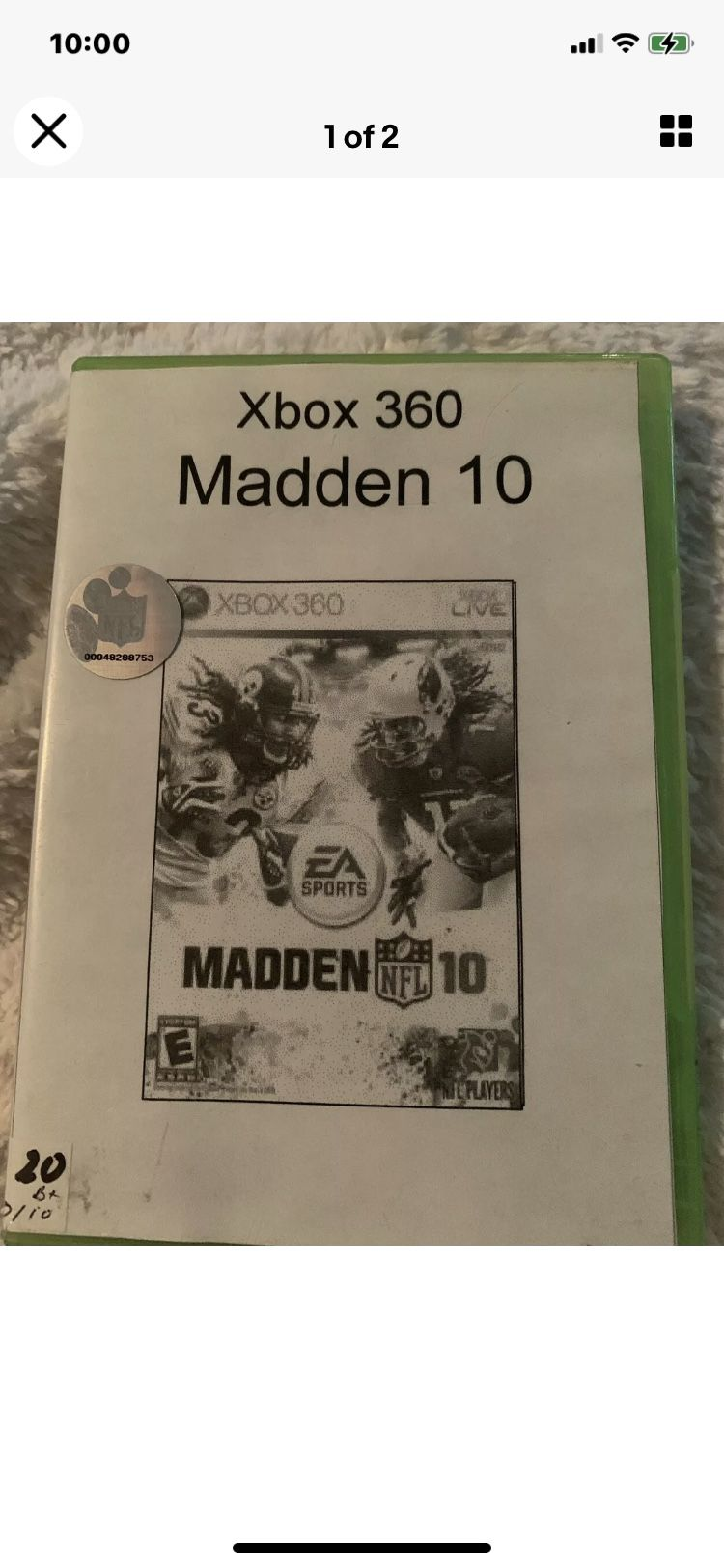 """Madden NFL 10 (Microsoft Xbox 360, 2009). Condition is """"Very Good"""". Shipped with USPS First Class."""
