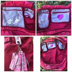 Victoria's Secret Love PINK & Rock N' Roll Large Crossbody Shoulder Duffle Bag Thumbnail