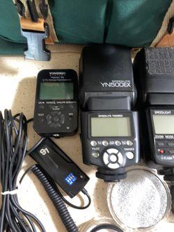 Nikon Speedlight + Yougnuo Speedlite & Wireless Flash Contoller + Lenses & Bag Thumbnail