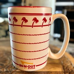 In-N-Out Burger Coffee Mug Cup Ceramic Palm Trees 12oz Thumbnail