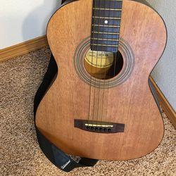Abilene AF-006 3/4 Size 6 String Acoustic Guitar w/Gig Bag Thumbnail