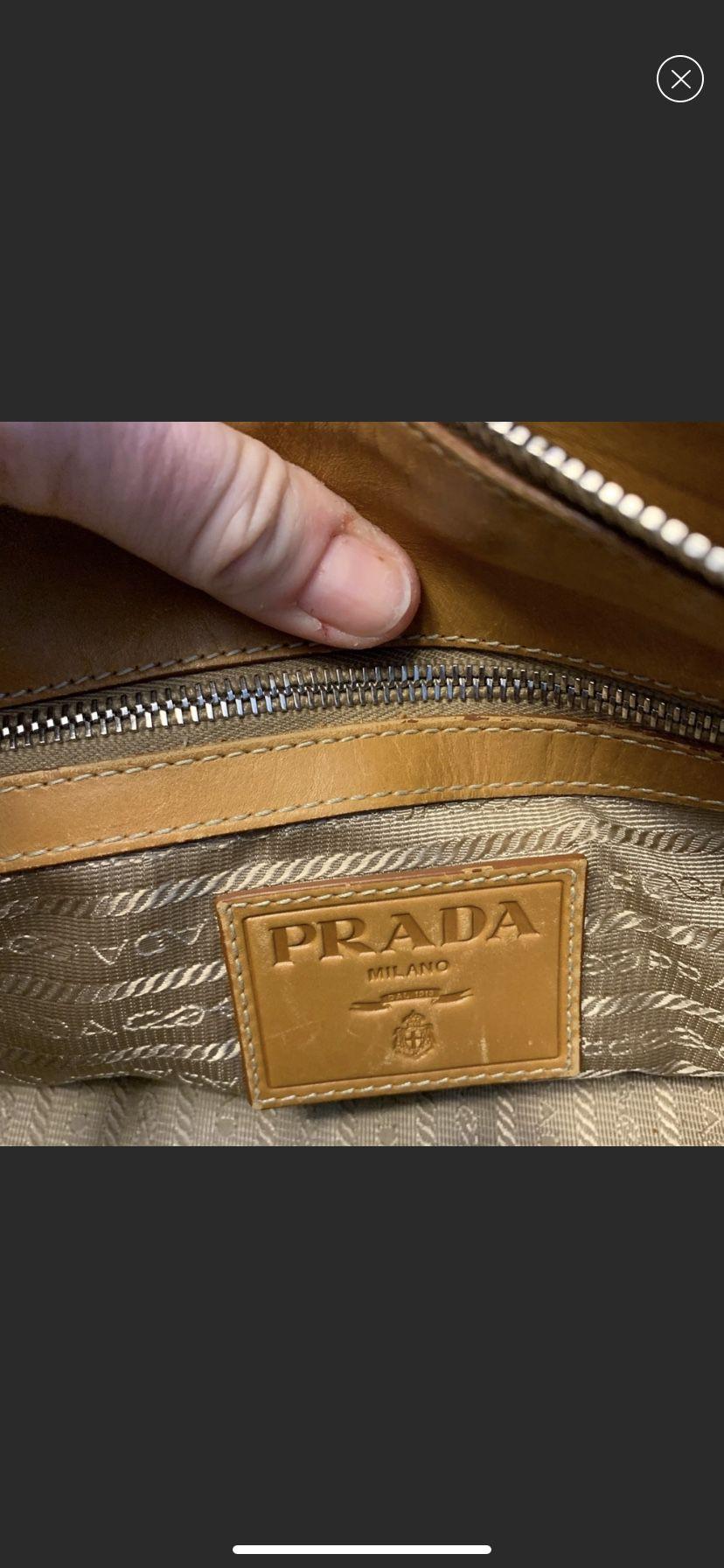 Authentic Prada Logo Jacquard bag