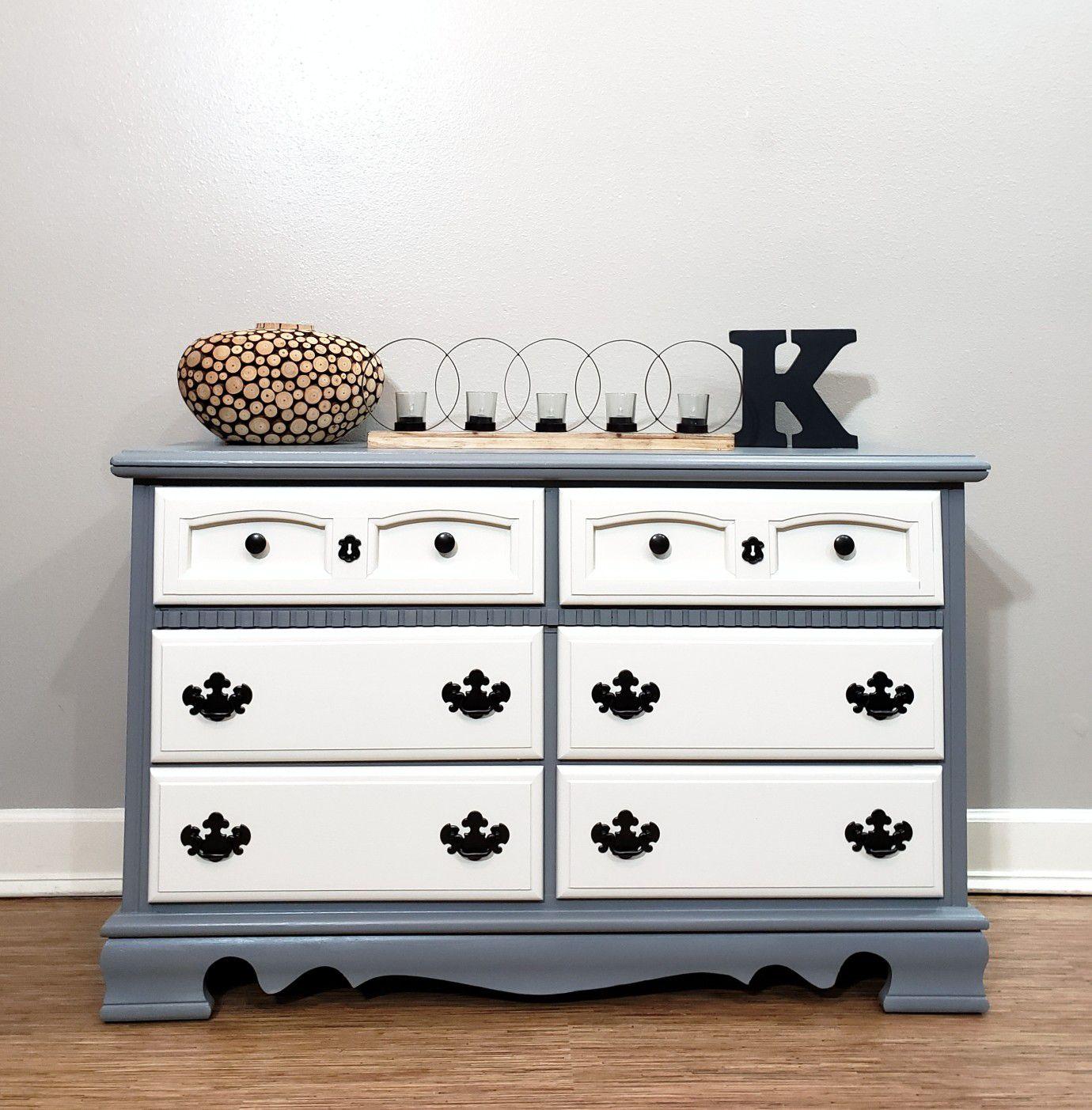 Beautiful hand painted Basset dresser