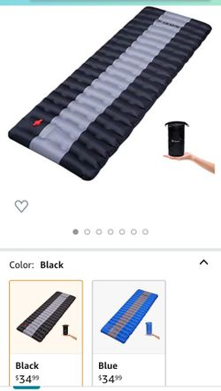 YSXHW Camping Sleeping Pad Waterproof Inflatable Sleeping Mat Inflating Lightweight Air Mattress with for Tent Thumbnail