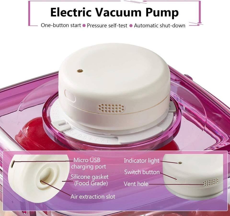 Brand New* Vacuum Food Storage Containers with Lids and Automatic Pump