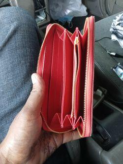 Louis Vuitton X Supreme Brazza Wallet EPI Red   Thumbnail