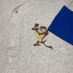 Vintage 90s Taz looney tunes baseball tee shirt Thumbnail