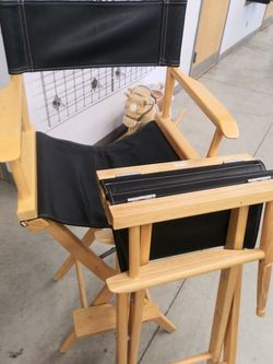 Very nice director chairs with extra brown interchangeable chair covers Thumbnail