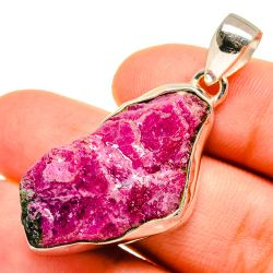 """Rough Ruby Zoisite Pendant 1 3/8"""" (925 Sterling Silver) PD9597 Thumbnail"""