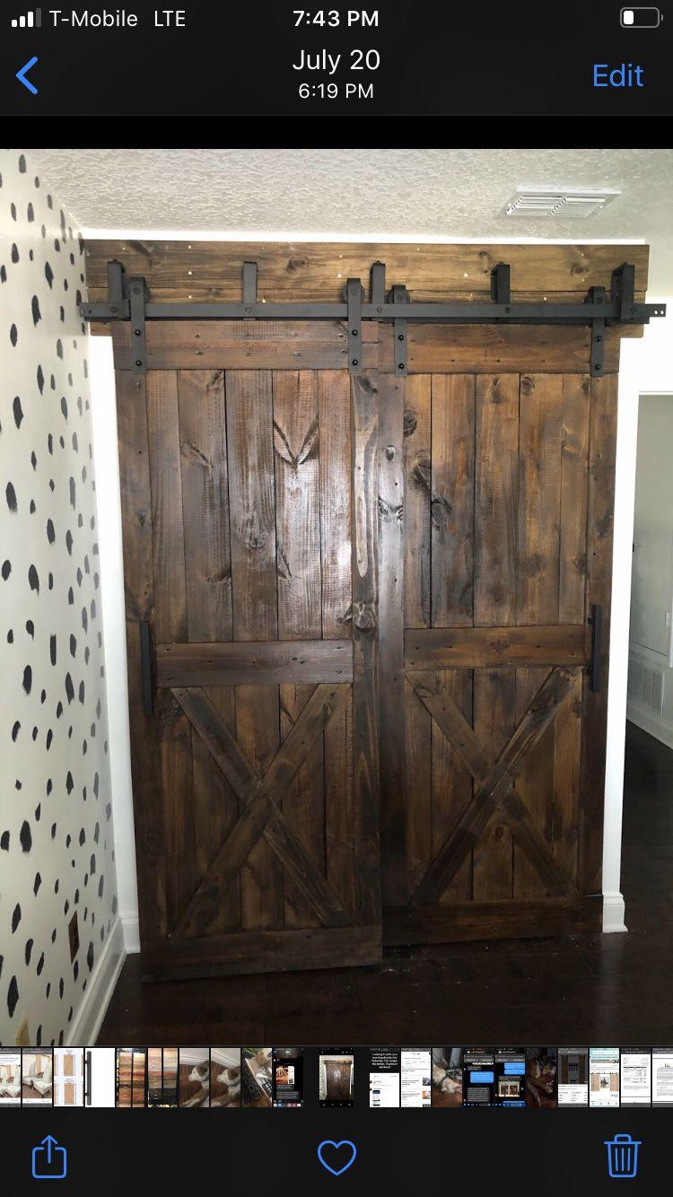 Interior barn sliding doors