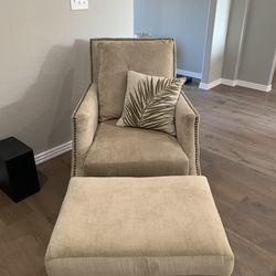 Chair With Ottoman  Thumbnail