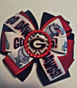 Georgia Bulldogs Handmade Hair Bows Thumbnail