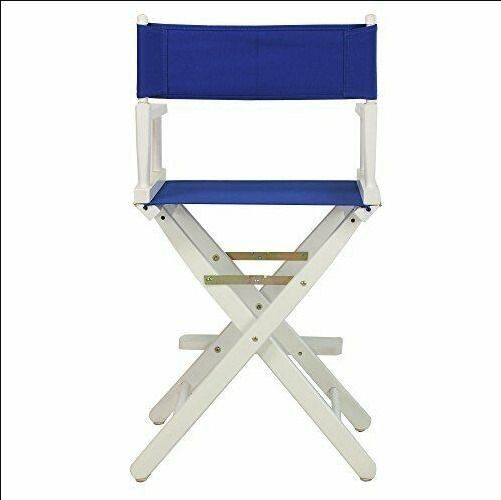 """B2-178 Casual Home 24"""" Director's Chair White Frame with Royal Blue. New."""