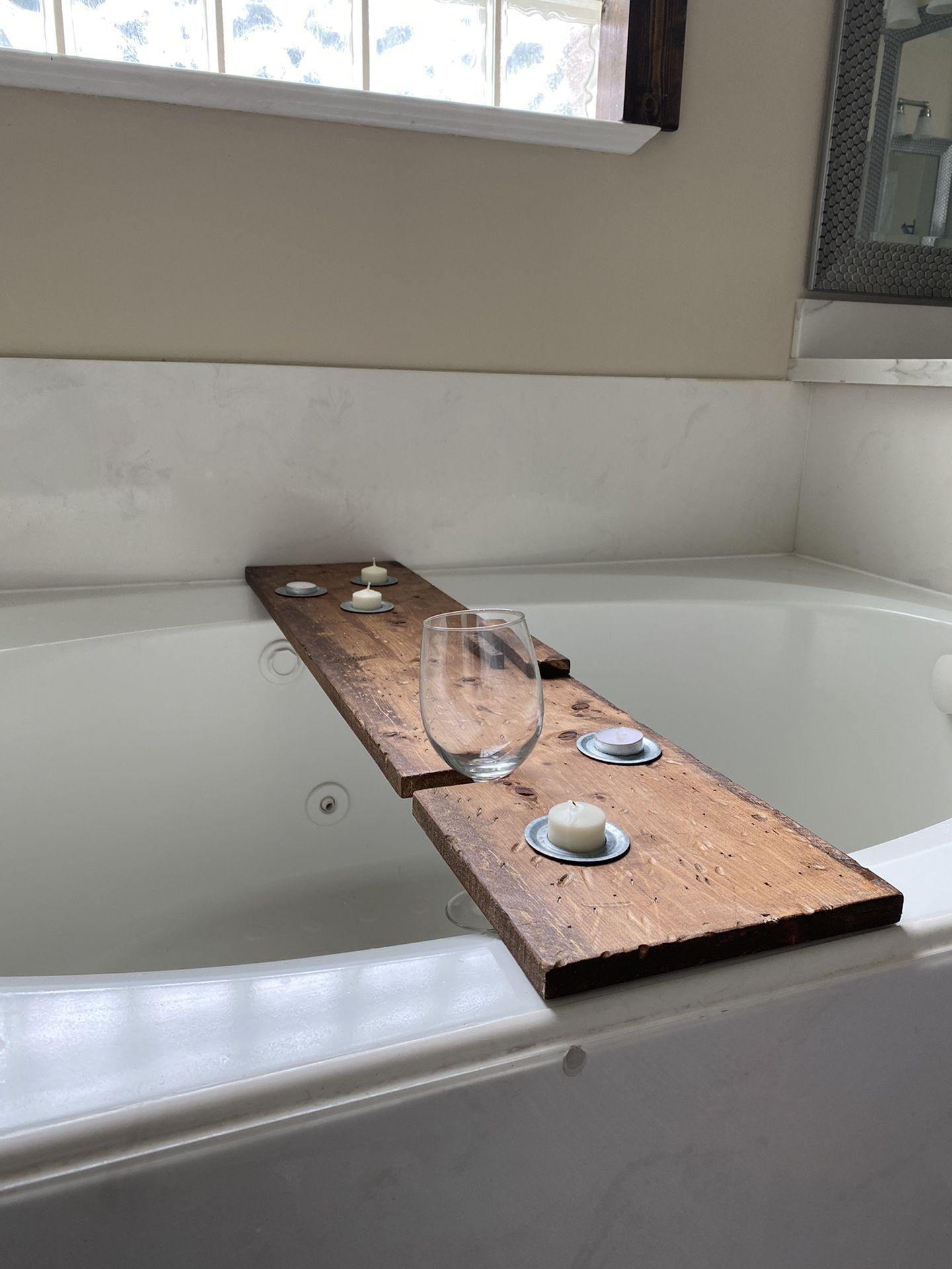 Rustic Wooden Bath Caddy