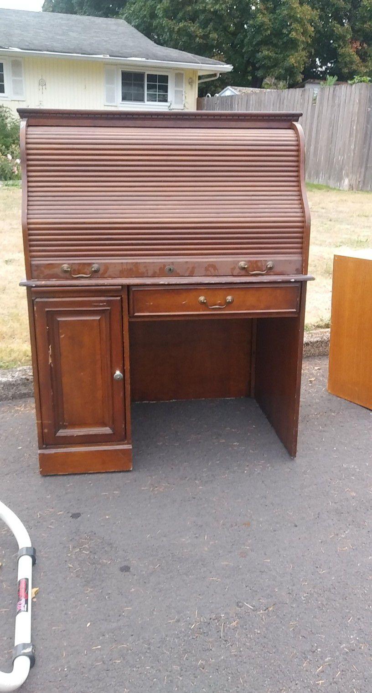 Rolling Secretary Desk