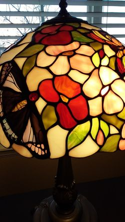 """Stained Glass Lamp 27"""" Thumbnail"""