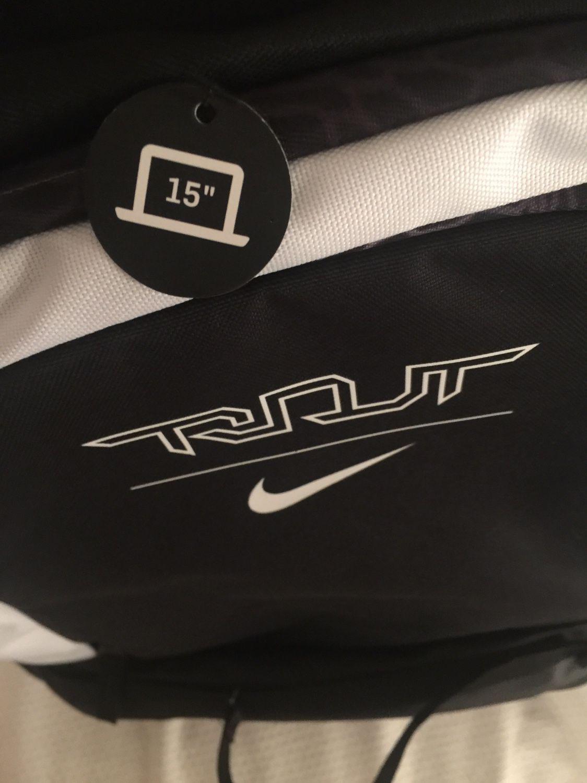 (New) Nike Trout Vapor Baseball Bat Backpack Black with Laptop Sleeve